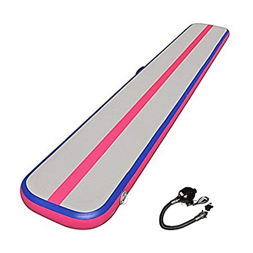 ouying1418 Inflatable Balance Beam Cushion Training Mat Gymnastics With Electric Pump