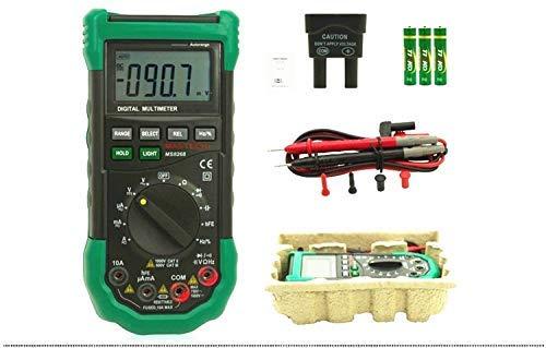 YELLAYBY Portátil Protección del multímetro digital de rango automático Ac Dc del amperímetro del voltímetro Ohm Frecuencia detector de diodo comprobador eléctrico Alta precisión
