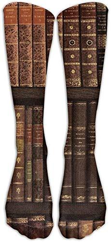 iuitt7rtree Libros antiguos Estantería Unisex Novedad Calf Premium Calcetines deportivos altos Medias de tubo fashional Tallas 6-10 calcetines7165