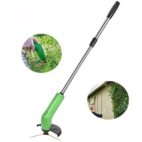 Best Buy! MonkeyClimb Garden Zip Trim Portable Cordless Trimmer Lawnmower Grass Edger Works With Sta...