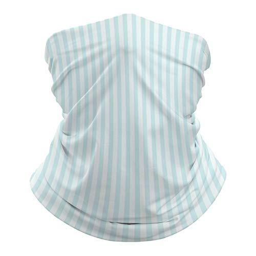 DKE&YMQ Pañuelo multifuncional para la cabeza, bufanda elástica, tubo mágico, pasamontañas, pasamontañas, para yoga, correr, senderismo, ciclismo, color verde, línea paralelo, gris, turquesa