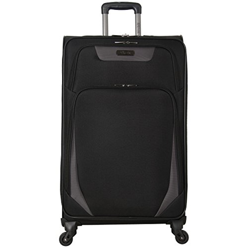 Kenneth Cole Reaction Going Places 28' 600d Polyester Expandable 4-Wheel Spinner Checked Luggage, Black