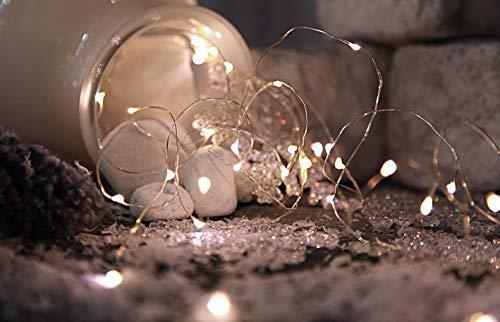 Best Season Lichterkette Bouquet Strings, 46 LED, 5 Stränge, Länge circa 1 m, Timer, Batterie Sichtkarton, warmweiß 726-83