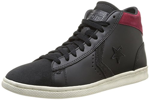 Converse, PRO Leather LP Mid Lth/Sue Z T, Sneaker, Unisex - Adulto, Nero (Black/Charcoal), 38