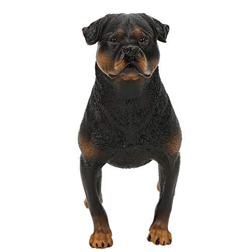 Figura de Perro Rottweiler, Miniatura de plástico sólido, Modelo de Perro Protector, Juguete Decorativo, colección Regalo para Amantes de los Perros