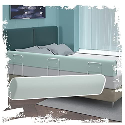 LIQICAI Protector Cama Barandilla, Parachoques Infantil De Tela De Algodón Lavable para Twin Bed Queen King, Fácil De Instalar, 3 Colores, 4 Tamaños (Color : Green, Size : 2m)