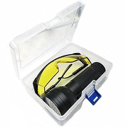 Nikauto UV Flashlight Black Light 51 LED Flashlight and UV Protective Glasses Goggles detector tool for Detecting pet Cat Dog Urine Repairing car Checking money 3