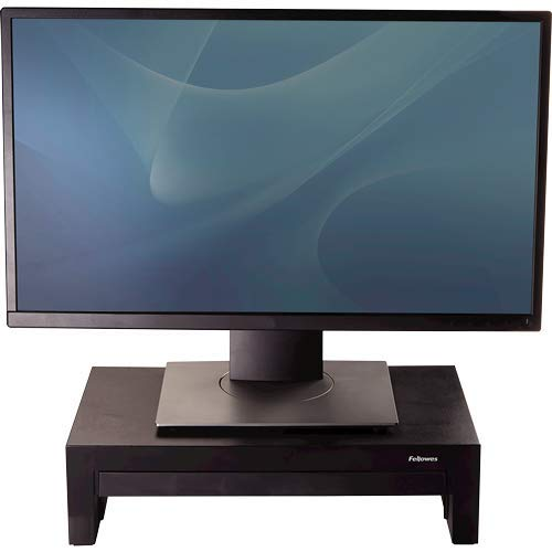 Fellowes Monitorständer Designer Suites, höhenverstellbar, ergonomisch, mit Aufbewahrungsfach, für Monitore bis 21 Zoll
