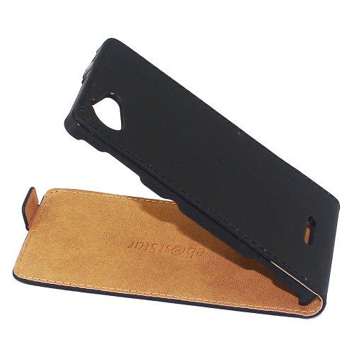 ebestStar - kompatibel mit Sony Xperia L Hülle Sony C2105 PU Kunstleder Etui mit Klappe, Handyhülle Schutzhülle Case Cover, Schwarz [Phone: 128.7 x 65 x 9.7mm, 4.3'']