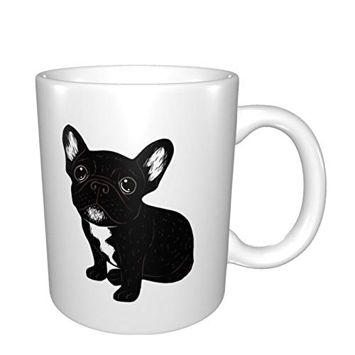 Gifts For Women Men Cute Brindle Frenchie Puppy Distressed Coffee Mug 11oz
