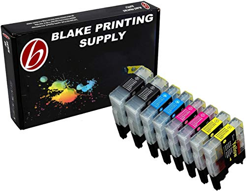 Blake Printing Supply � 8 Pack Compatible Ink Cartridge Replacements for Brother LC-71 , LC-75 2 Black, 2 Cyan, 2 Magenta, 2 Yellow (LC-71BK , LC-71C , LC-71M , LC-71Y , LC-75BK , LC-75C , LC-75M , LC-75Y)
