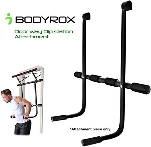 BODYROX Doorway Pull up Bar Dip Station ADD-ON   Doorway Pull up bar Home Gym Accessory