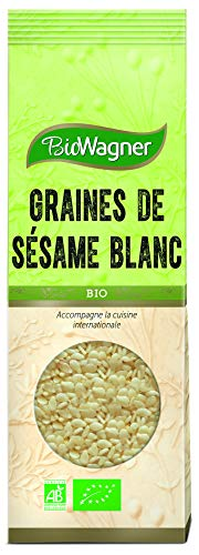 BIOWAGNER Graines de Sésame Blanc Bio Sachet 60 g