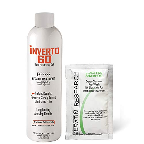 Inverto 60 multifunktionale Keratin-Haarbehandlung Formaldehydfrei, super schneller Anwendungsprozess inkl. Starter-Keratin-Behandlungsset, Ergebnisse liefern sofort gesundes glänzendes Haar.
