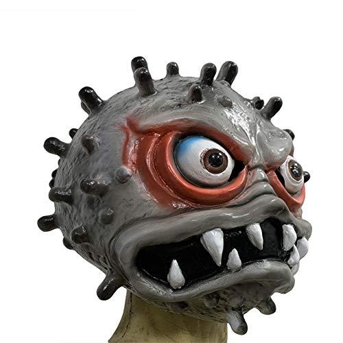YDXH Latex Copricapo Coronavirus Cosplay Masquerade Mask Virus Copricapo Halloween Horror Props,B
