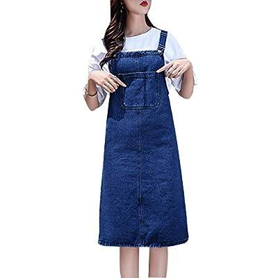 Women's Casual Strap Denim Pinafore Bib Overall Dress