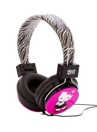 Hello Kitty HK-ZEB-WM Headphones with Zebra Design