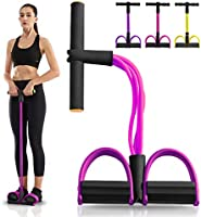 Pumoes Elastic Sit Up Pull Rope Fitness Equipment 4 Tubes Natural Latex Foot Pedal Yoga Exerciser Bodybuilding Expander...