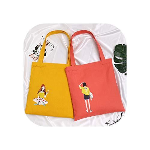 Direct Selling Sommer-Einkaufstasche mit süßem Cartoon-Motiv, Leinen, vielseitig verwendbar