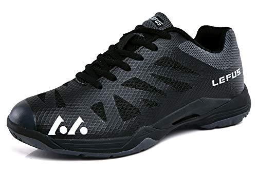 SMXX Herren Badminton Schuhe Indoor und Outdoor Sportschuhe Paar Modelle (38 EU, Schwarz-010)