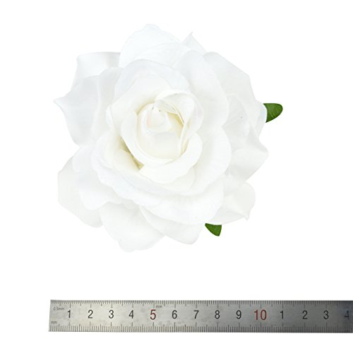 DRESHOW Flower Hair Clip Rose Hairpin Floral Brooch Floral Hair Clips for Women Rose Hair Accessories Wedding Pack 5/16 3