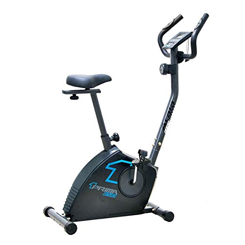 Atala, Cyclette Prima Evo V.1, Ciclette per l'home Fitness, Training aerobico, Sella e Manubrio Regolabili, rilevatore di pulsazioni, Colore Nero/Blu- 0400005061