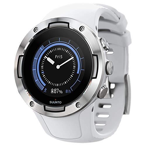 Suunto 5, Unisex-GPS-Multisportuhr für Erwachsene, Mineralglas, Edelstahl/Silikon, Weiß, SS050300000