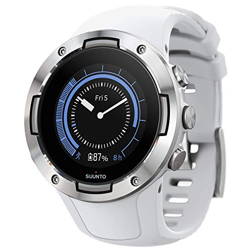 Montre Suunto 5 Multisport GPS, unisexe adulte, verre minéral, acier inoxydable, silicone, blanc, SS050300000