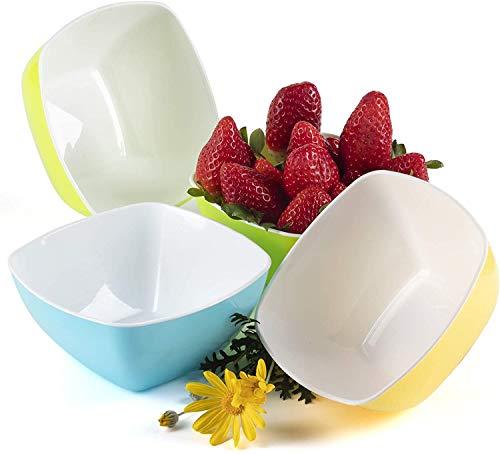 Bols à Céréales Bol petit Déjeuner Individuel Plastique Snack Popcorn Soupe Dessert 0,68L - Lot de 4