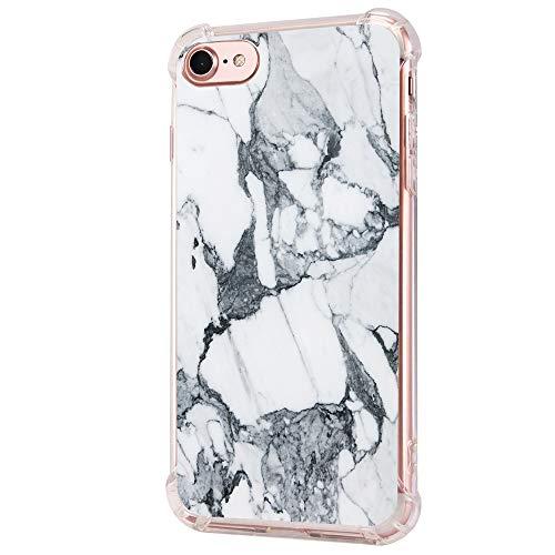 14chvier compatibel met iPhone 7 8 hoes silicone beschermhoes TPU telefoonhoes cover achterkant vloeibaar kristal ultra dunne bescherming schokbestendig telefoonhoes voor Apple iPhone 8