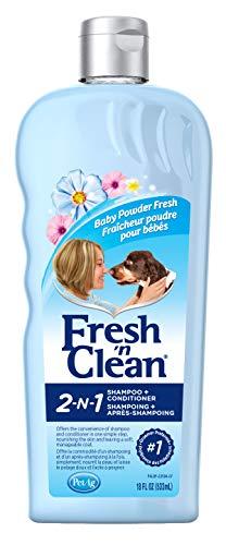Fresh'n Clean Pet 2-in-1 Baby Powder Formula Conditioning Shampoo, 18-Ounce
