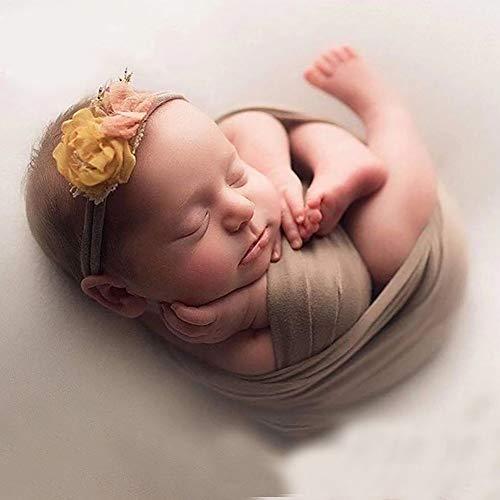 Fotografie Decke Geburtstage Soft Cute Wraps Mode Neugeborenen Korb Multicolor ntergrund Stoff DIY Requisiten Geschenk ntergrund Baby(Kaffee)