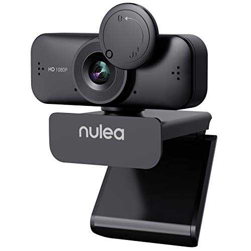 NULAXY C902 Webcam mit Mikrofon für PC/Laptop, HD 1080P Webcam mit Abdeckung für Video Streaming, Online-Unterricht, Konferenz, Funktioniert mit Skype, Zoom, Facetime - Schwarz