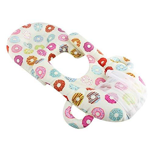 ZHANGXJ Pequeño Cojín Lactancia Bebé Almohadas para Lactancia Ergonómico Multifuncional Terciopelo de Cristal Amamantar Cojín Lavable Nido Bebé Casa (Color : A)