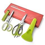 Galadim Küchenschere & Kräuterscheren-Set – Küchenschere mit Magnetscheide zum Schneiden von Fleisch, Geflügel, Gemüse Kitchen Scissor + Herb Scissors (Gd-011)