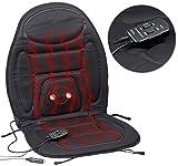 Lescars Auto Sitzheizung: 2in1-Kfz-Sitzauflage mit Massage- und Heizfunktion