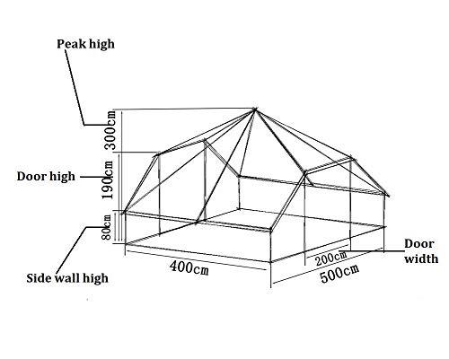 Latourreg Cotton Canvas 5X4M Touareg Bell Tent Square Glamping Safari Tent with Double Door. 2