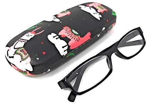 Funda de gafas para niño y niña con motivos divertidos Rígida y muy resistente (Cactus Black)