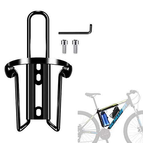 Portabotellas Para Portavasos De Bicicleta, Portabotellas Para Bicicleta De Aluminio, Apto Para Actividades Al Aire Libre, Bicicletas, Carreras, Bicicletas De Montaña, Cochecitos (Negro)