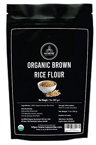 Naturevibe Botanicals Brown Rice Flour (2lbs) | Gluten Free | Rich in Protein | Supports Weight Loss [Packaging may Vary]