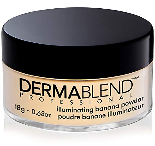 Dermablend Illuminating Banana Powder, Loose Setting Powder Makeup for Brightening and a Long-Lasting Luminous Finish, up to 16hr Wear, 0.63 oz
