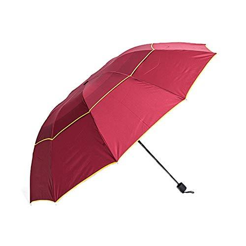 HIZLJJ Ombrello da golf UV antivento extra large automatico aperto Oversize Ombrello da pioggia repellente stick Protezione solare Ombrello da viaggio pieghevole anti UV anti-pioggia Ombrello da piogg