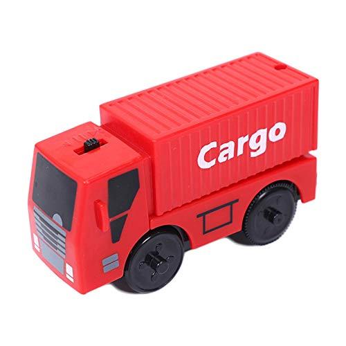 GWHW Tren eléctrico para niños, juguete de interacción de padres con motor a batería, compatible con ferrocarril de madera, fácil de usar