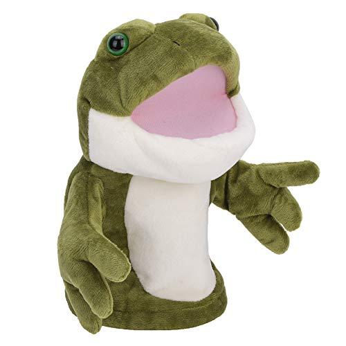 idalinya Marioneta de Mano de la Rana, Juguete de la Felpa de los Animales Lindos, Caja Fuerte Superficial Suave no tóxica para los niños del bebé(30cm, Frog)