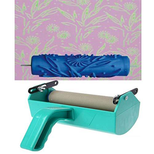 HKDJ-16,6CM Rodillo De Pintura con Patrón De Textura Decorativa Y Máquina De Pintura De Un Solo Color con Mango De Plástico En Relieve para Decoración De Paredes,a