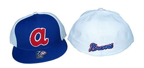 American Needle Atlanta Braves LETTERMAN'S Cooperstown Collection Fitted 8 Hat Cap