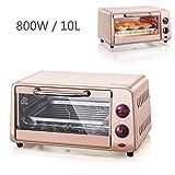 220 V 10L multifonctions Micro-ondes Four mini-four électrique automatique pour la maison cuisson contrôle de la température libre 800W rose