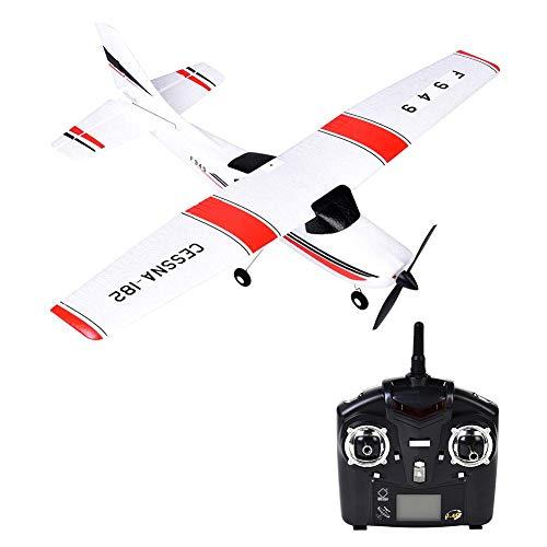 Bloomma RC Droni, Giocattoli F949 RC Giocattolo 2.4G Aliante a Distanza Modello di velivolo Aerei a Tre canali con Server ad Ala Fissa,USB Incorporato