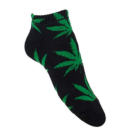 plantlife Sneaker Socken Halbsocken Hanf Unisex, universelle Größe*in verschiedenen Farben erhältlich., Schwarz/Grün, Einheitsgröße