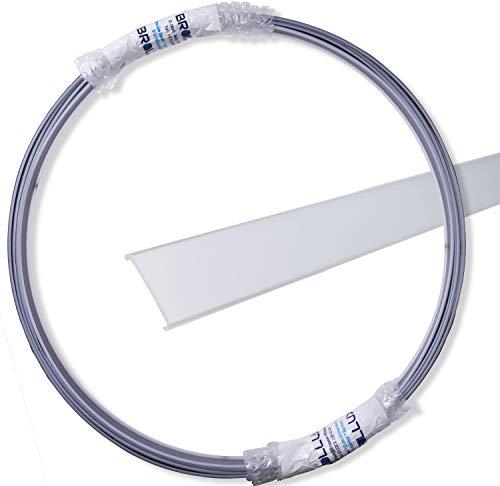 Perfil LED opcional 5 m, en una pieza para Brollux Profil V24, difusor efecto neón